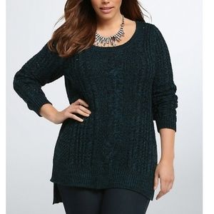 Torrid Sea Teal Marled Sweater